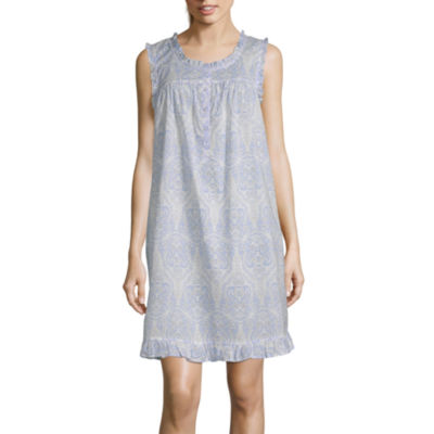Adonna Ruffle Womens Scoop Neck Sleeveless Nightgown