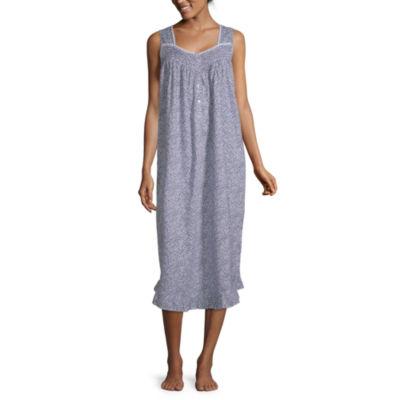 Adonna Ruffle Hem Womens Square Neck Sleeveless Nightgown