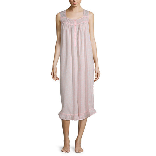 Adonna Ruffle Hem Womens Sleeveless Nightgown