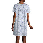 Adonna Womens Nightgown Short Sleeves Scoop Neck
