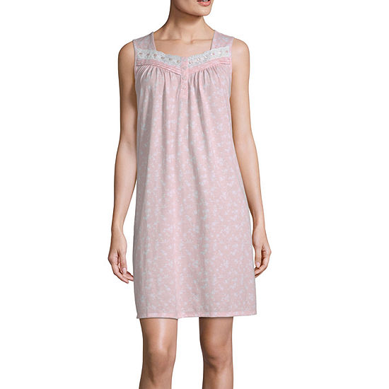 Adonna Womens Sleeveless Sweetheart Neck Nightgown
