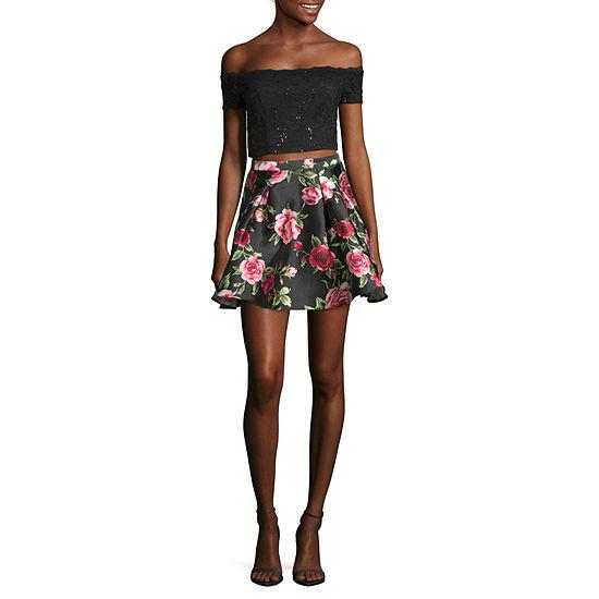 B. Smart Short Sleeve Dress Set-Juniors