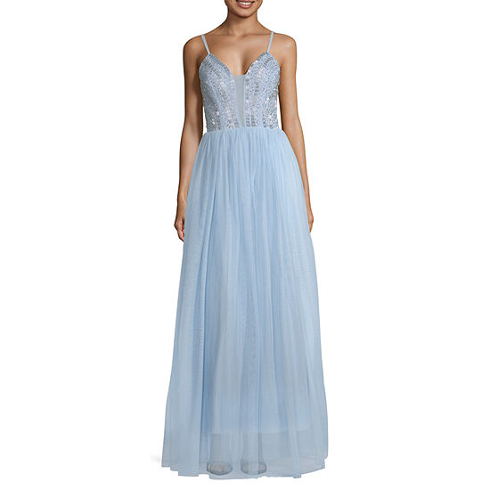 Speechless Sleeveless Embellished Ball Gown-Juniors