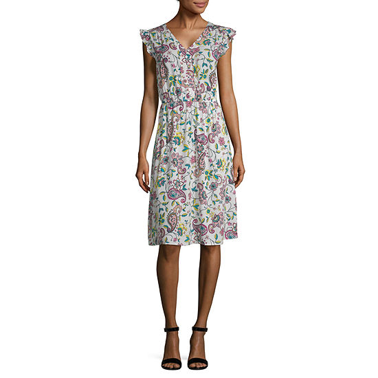 e6807eed574 a.n.a Short Sleeve Sundress - JCPenney