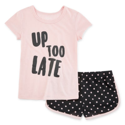 City Streets Toddler Girls 2-pc. Shorts Pajama Set Mommy and Me