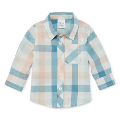 Peyton & Parker Long Sleeve Button-Front Shirt Baby Boys