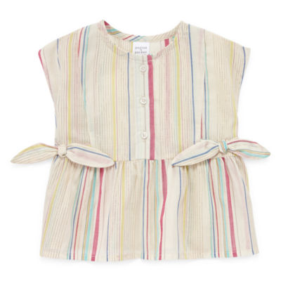 Peyton & Parker Baby Girls Round Neck Sleeveless Blouse
