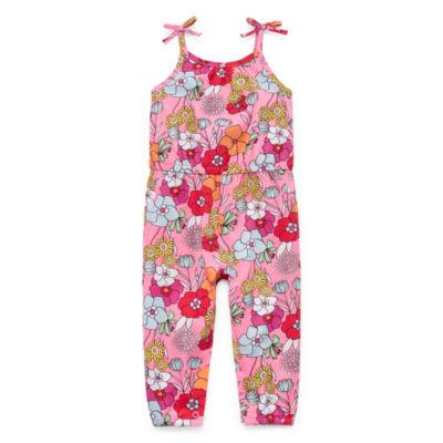 Okie Dokie Embroidered Jumpsuit - Baby Girls