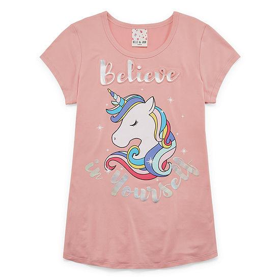 Self Esteem Girls Scoop Neck Short Sleeve Graphic T-Shirt - Big Kid