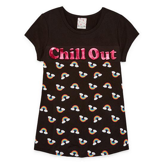 Self Esteem Girls Scoop Neck Short Sleeve Graphic T-Shirt Big Kid