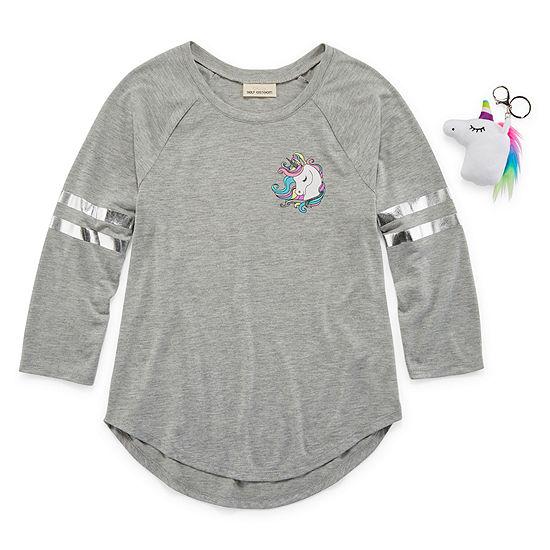 Self Esteem Round Neck Long Sleeve Graphic T-Shirt - Big Kid Girls