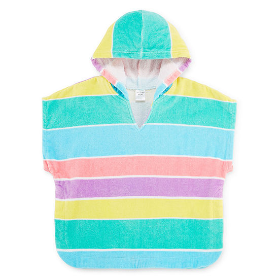 Okie Dokie Striped Hooded Cover-up - Toddler