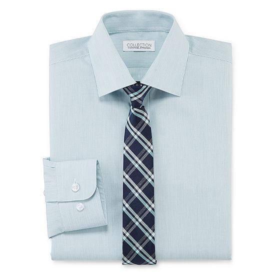Collection By Michael Strahan Boys Spread Collar Long Sleeve Shirt + Tie Set Preschool / Big Kid