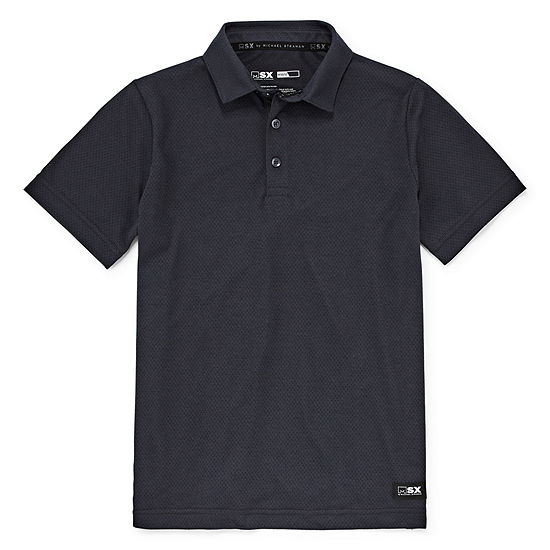 Msx By Michael Strahan Boys Spread Collar Short Sleeve Polo Shirt - Big Kid