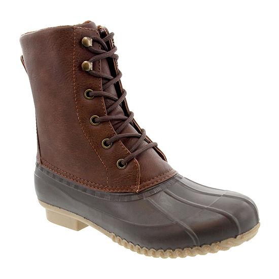 London Fog Womens Fleece Lined Flat Heel Winter Boots