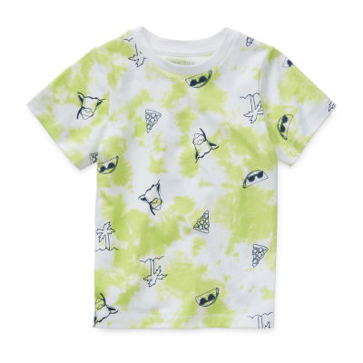Okie Dokie Toddler Boys Crew Neck Short Sleeve Graphic T-Shirt