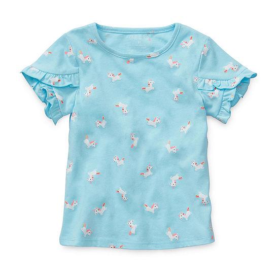 Okie Dokie-Toddler Girls Short Sleeve T-Shirt