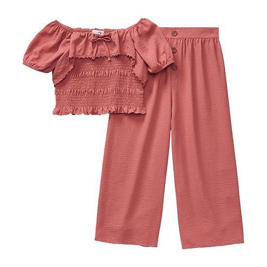 Knit Works Little Kid / Big Kid Girls 2-pc. Pant Set