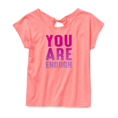 Xersion - Little Kid / Big Kid Girls Round Neck Short Sleeve Graphic T-Shirt