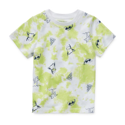 Okie Dokie Boys Crew Neck Short Sleeve Graphic T-Shirt - Little Kid