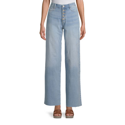 a.n.a Womens High Waisted Regular Fit Flare Jean