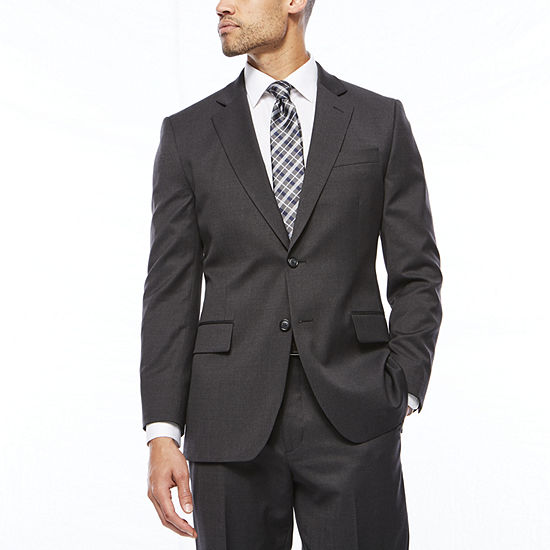 Stafford Travel Charcoal Classic Fit Suit Separates