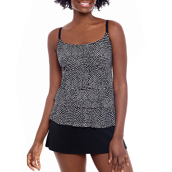 St. John's Bay Womens Dots Swim Dress