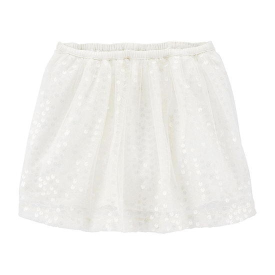 Oshkosh - Toddler Girls Mid Rise Midi Full Skirt