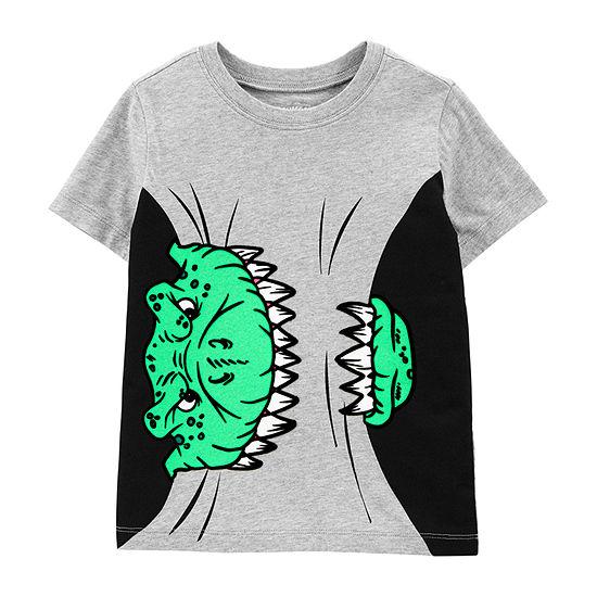 Oshkosh-Toddler Boys Round Neck Short Sleeve Graphic T-Shirt