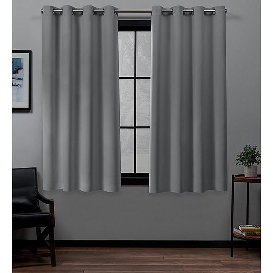 Exclusive Home Curtains Academy Energy Saving 100% Blackout Grommet Top Set of 2 Curtain Panel