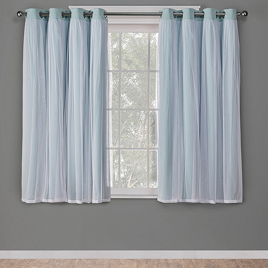 Exclusive Home Curtains Catarina Energy Saving Blackout Grommet-Top Set of 2 Curtain Panel