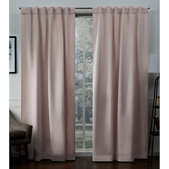 Exclusive Home Curtains Sateen Energy Saving Blackout Back-Tab Set of 2 Curtain Panel