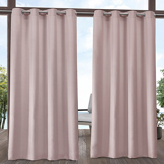 Exclusive Home Curtains In/Out Solid Room Darkening Grommet-Top Set of 2 Curtain Panel