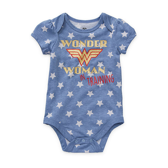 Okie Dokie Girls Wonder Woman Bodysuit-Baby
