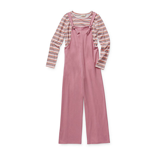 Self Esteem Little & Big Girls 2-pc. Overall Set