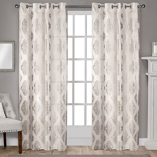 Exclusive Home Curtains Augustus Light-Filtering Grommet-Top Set of 2 Curtain Panel