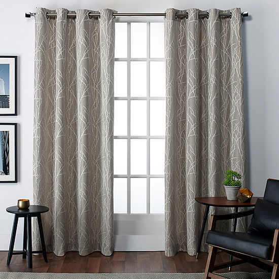 Exclusive Home Curtains Finesse Light-Filtering Grommet-Top Set of 2 Curtain Panel