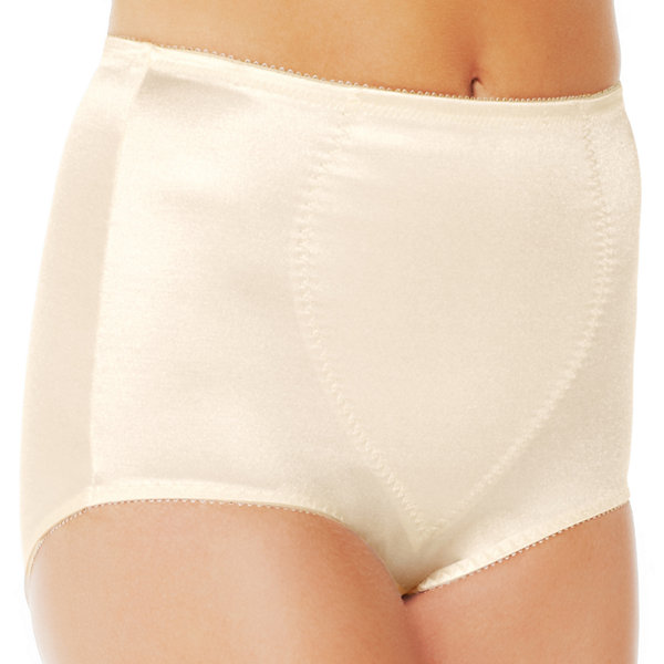 Underscore Rainbow Stretch Satin Tummy Panel Light Control Control Briefs - 123-3904