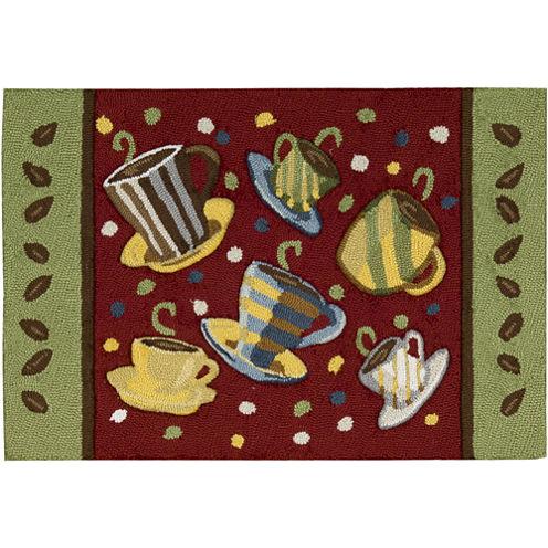 Nourison® Coffee Mugs Washable Rectangular Rug