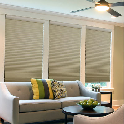 "Cut-to-Width 1½"" Two Tone Cordless Blackout Cellular Shade"
