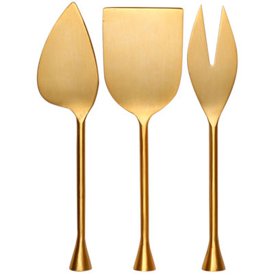 Thirstystone® Old Hollywood 3-pc. Gold-Plated Cheese Set