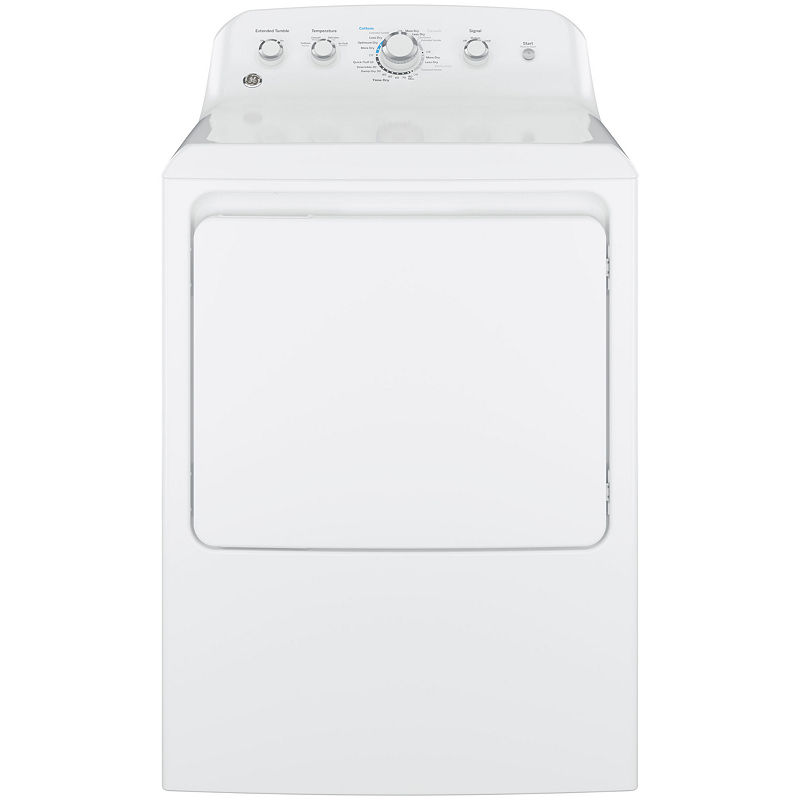 GE 7.2 cu. ft. Capacity Aluminized Alloy Drum Electric Dryer - GTD42EASJWW, White - Dryers - Electric Dryers