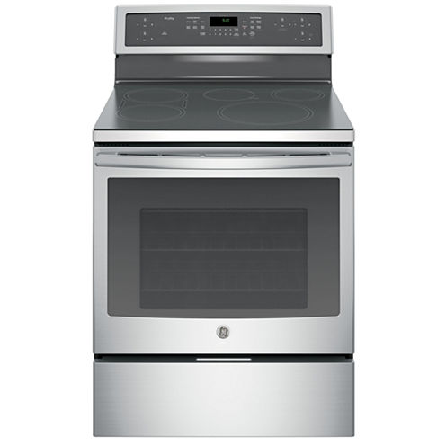 """GE Profile™ Series 30"""" Free-Standing Convection Range with Induction Technology"""