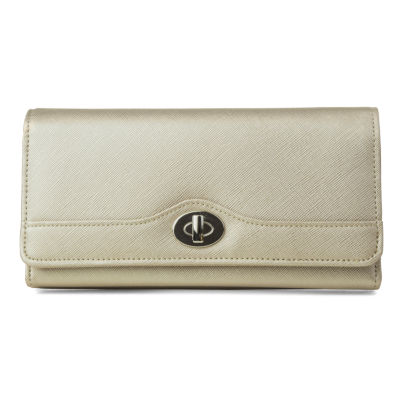 Mundi File Master Metallic Saffiano RFID Blocking Accordian Wallet
