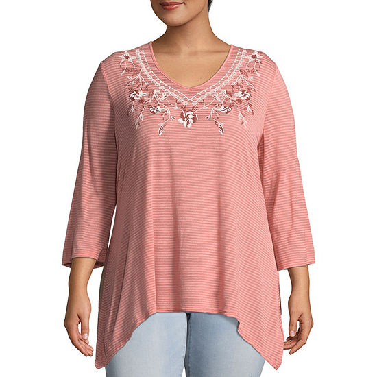 Short Sleeve Cold Shoulder Embroidered Blouse - Plus Unity World Wear Outlet 100% Original 8dICpEoooy