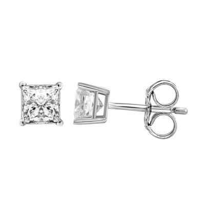 1 3/8 CT. T.W. Genuine White Diamond 14K Gold 4.8mm Stud Earrings