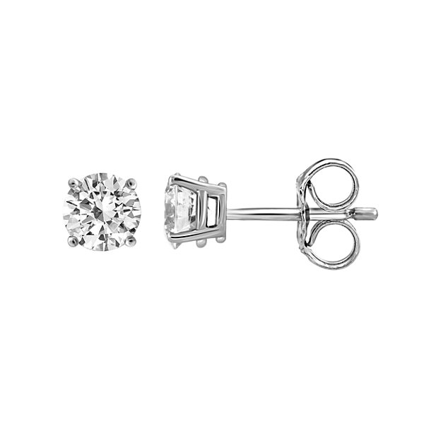 1 3/8 CT. T.W. Round White Diamond 14K Gold Stud Earrings