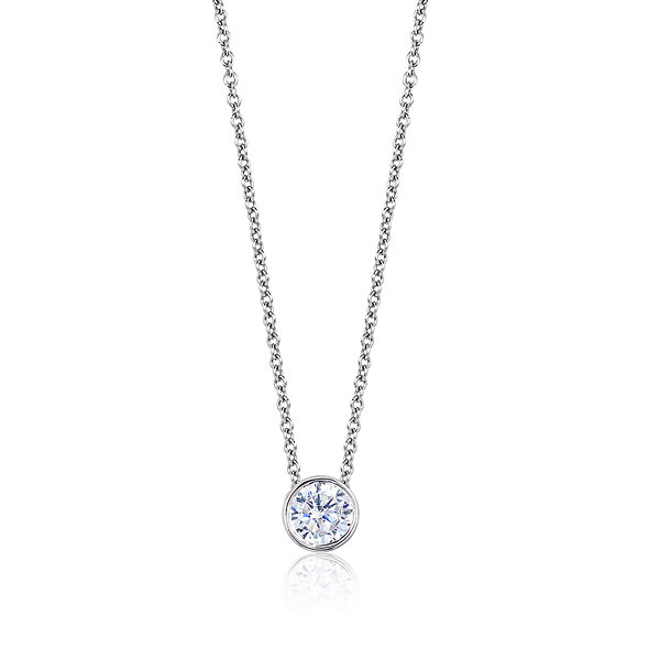 Womens Diamond Accent White Diamond 14K Gold Pendant Necklace