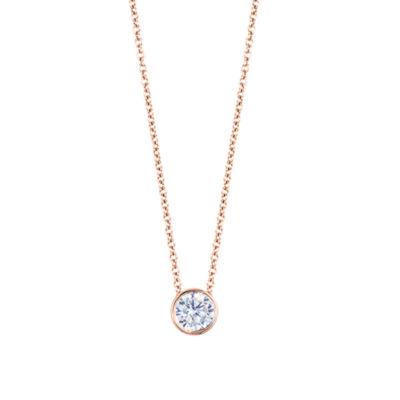 Womens Diamond Accent Genuine White Diamond Round Pendant Necklace