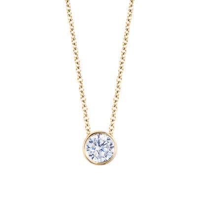 Fine Jewelry Womens 3 CT. T.W. White Diamond 14K Gold Pendant Necklace 94btSaQ